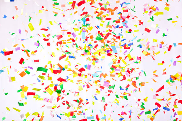 falling confetti - shredded paper stock photos and pictures