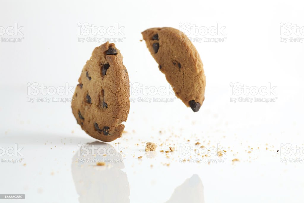 Falling Cookies stock photo