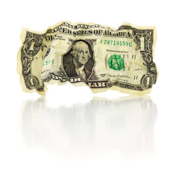 Falling Currency Dollar stock photo