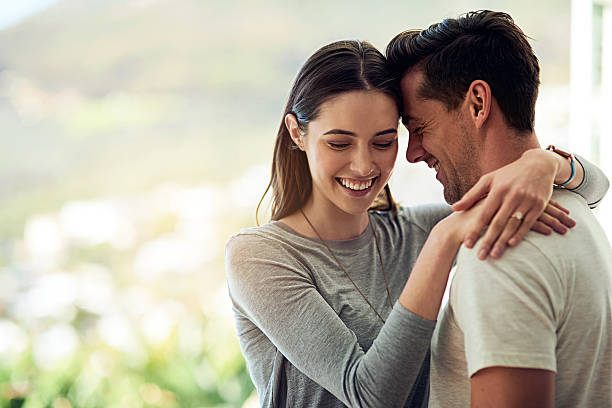 Falling deeper in love every moment they're together stock photo