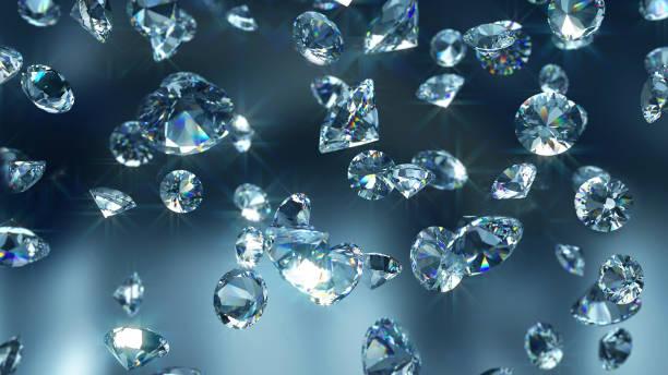 caduta diamanti primo-up - brillante foto e immagini stock