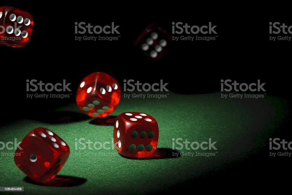 Falling dices royalty-free stock photo