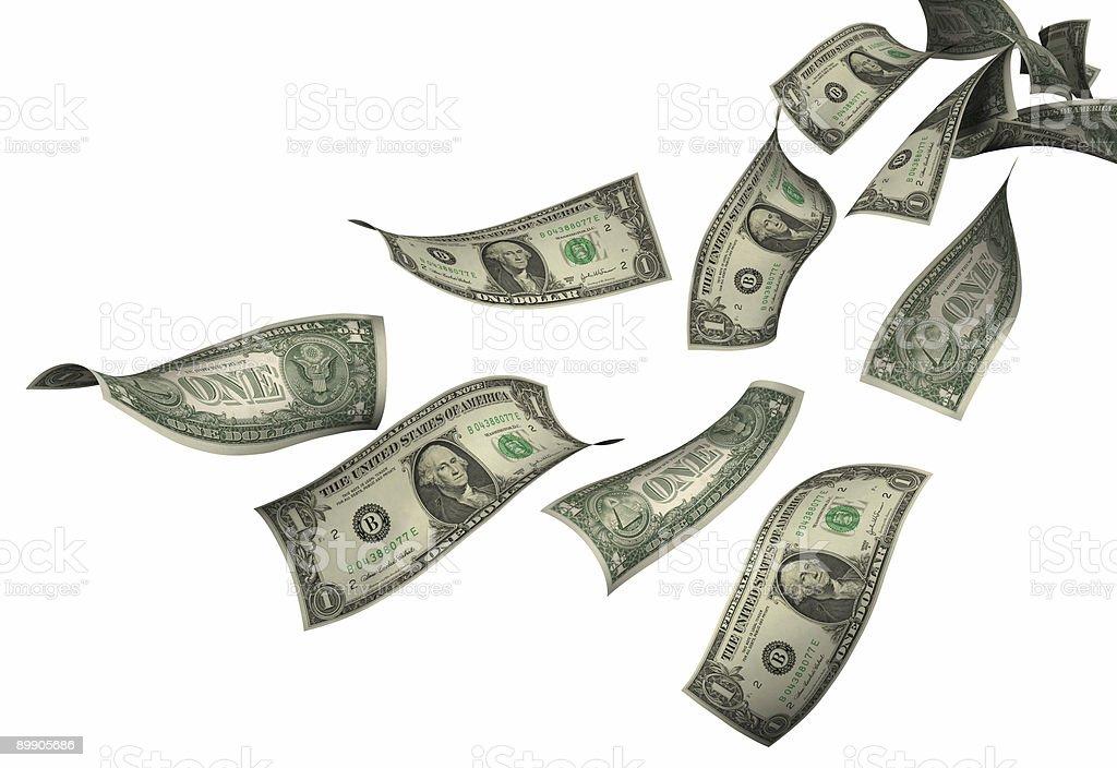 Fallenden Dollar-Scheine Lizenzfreies stock-foto