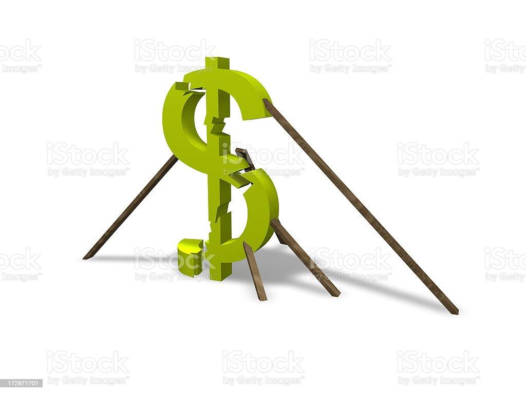 Falling Dollar royalty-free stock photo
