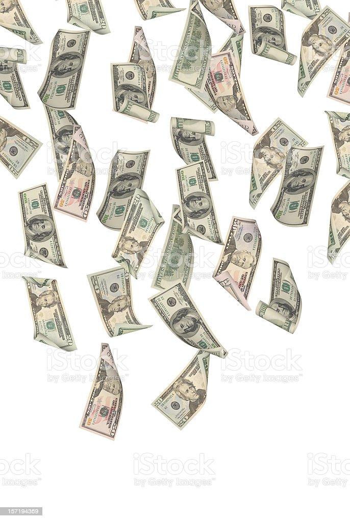 Falling Dollars royalty-free stock photo