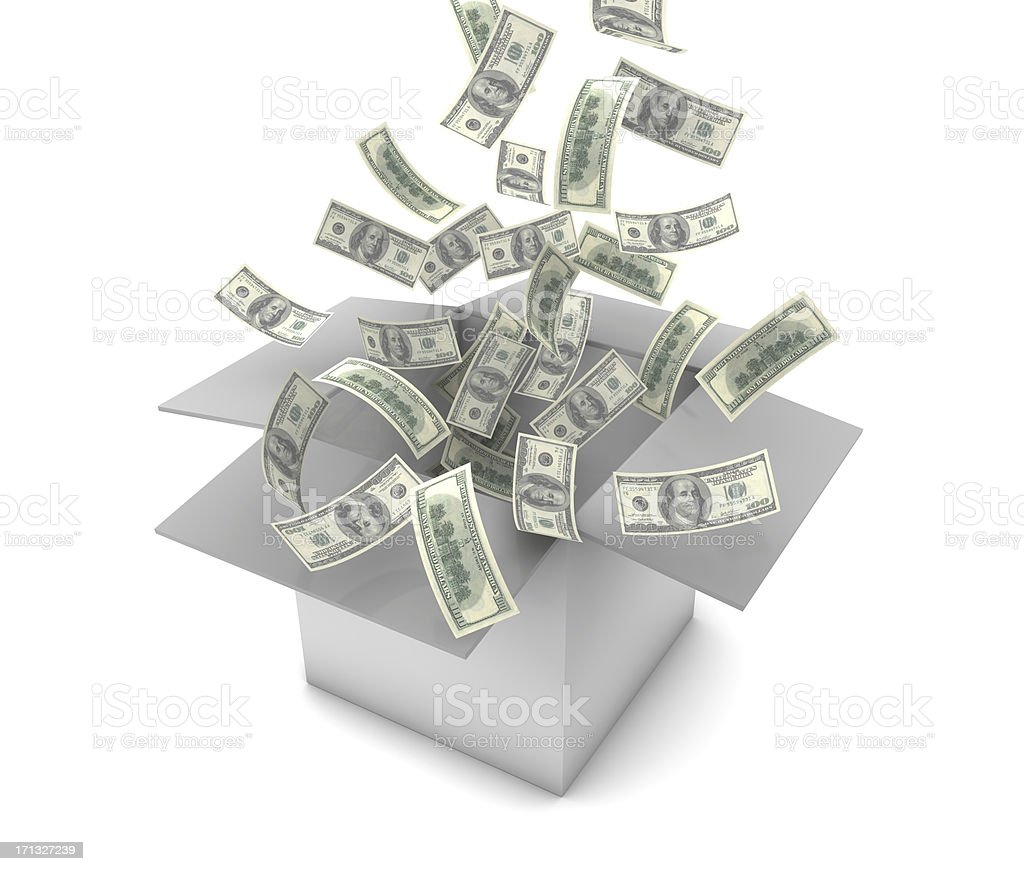 Falling Dollars royalty-free stock photo