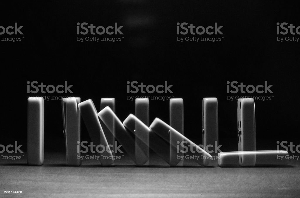 falling dominoes royalty-free stock photo
