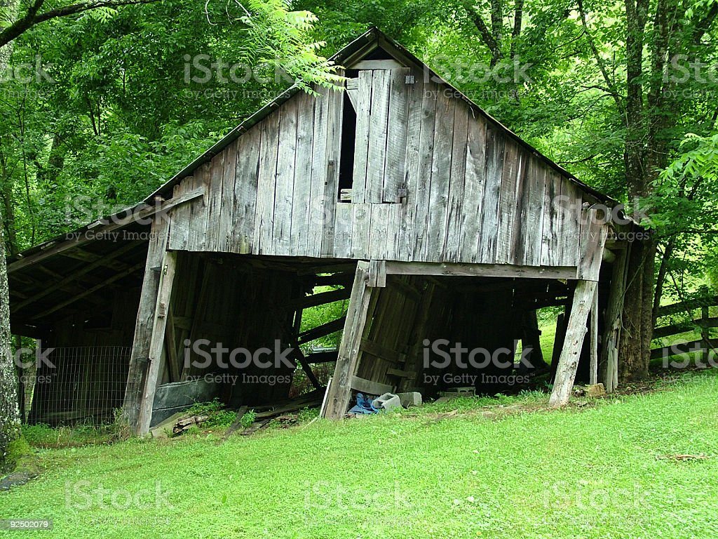 Falling down barn royalty-free stock photo