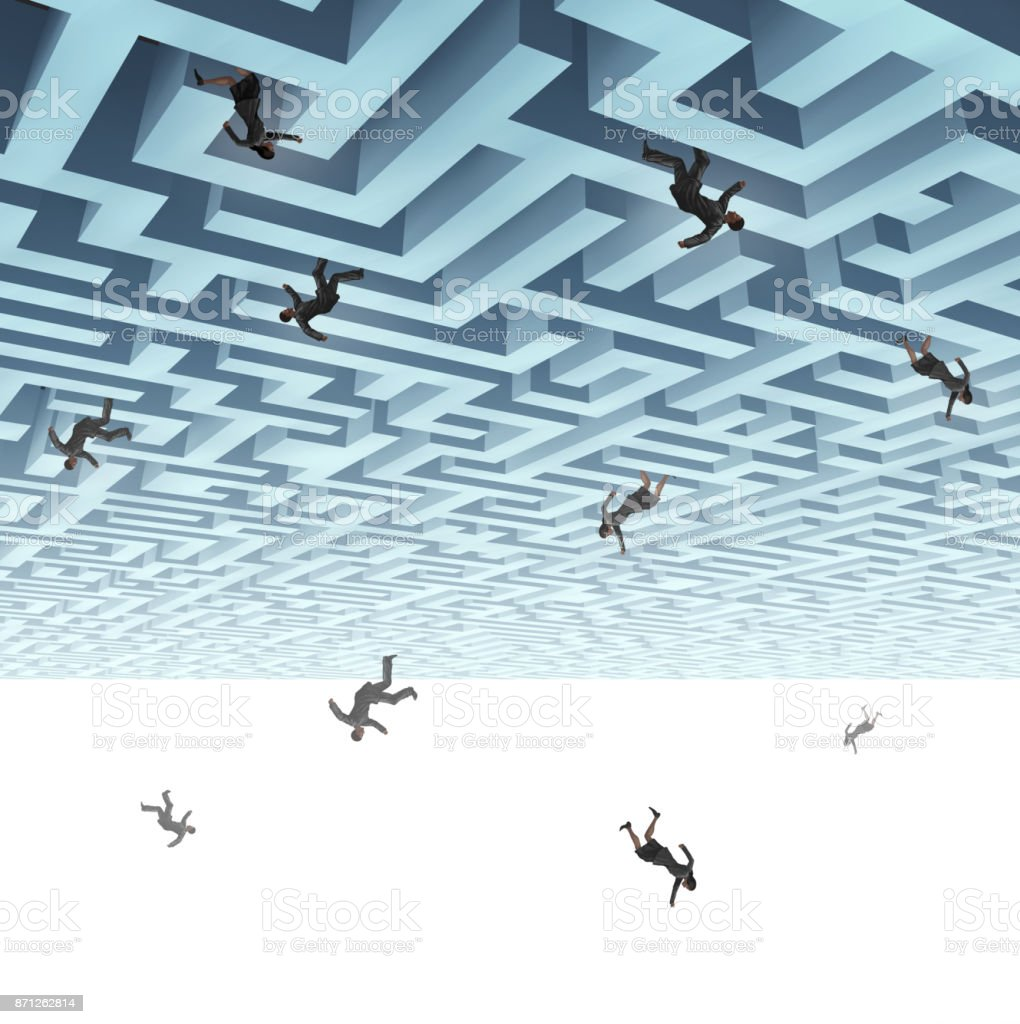 Falling Down Business People stock photo