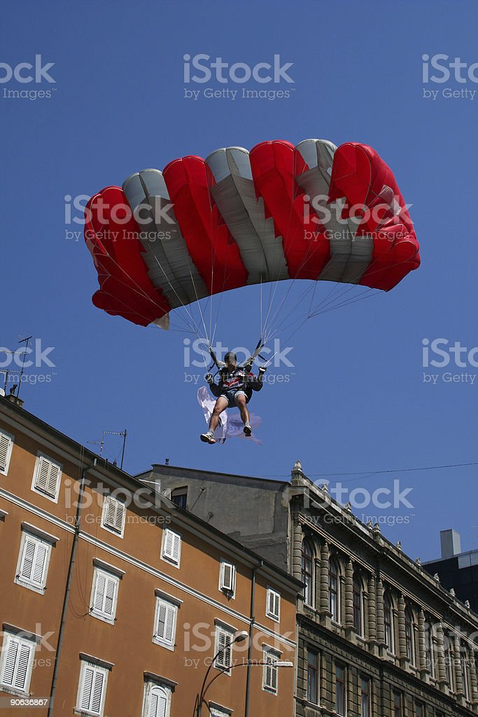 Falling down in the town royalty-free stock photo