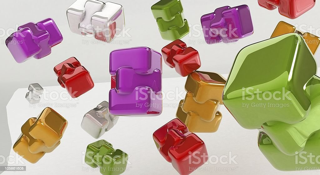 Falling down pieces royalty-free stock photo