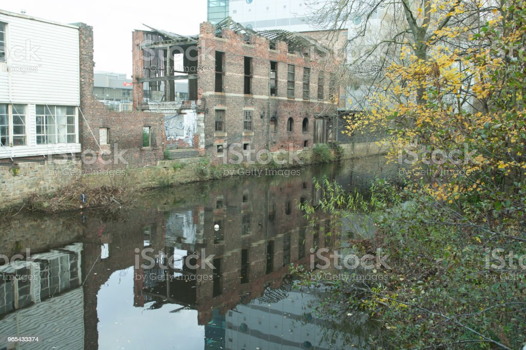 Falling down, Sheffield, England. royalty-free stock photo