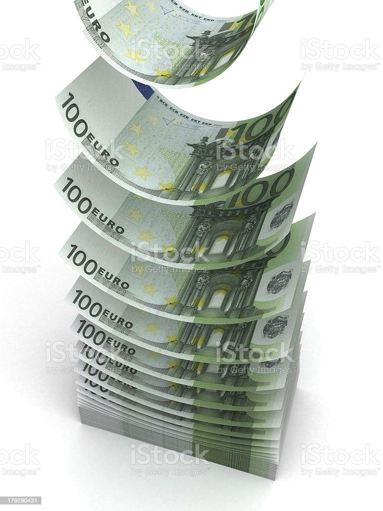 Falling Euro royalty-free stock photo
