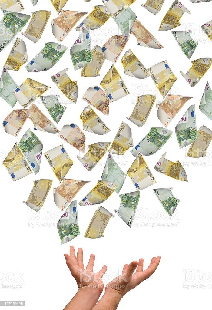 Falling Euro's royalty-free stock photo