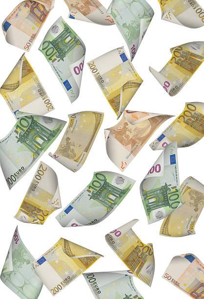 Caída del Euro - foto de stock