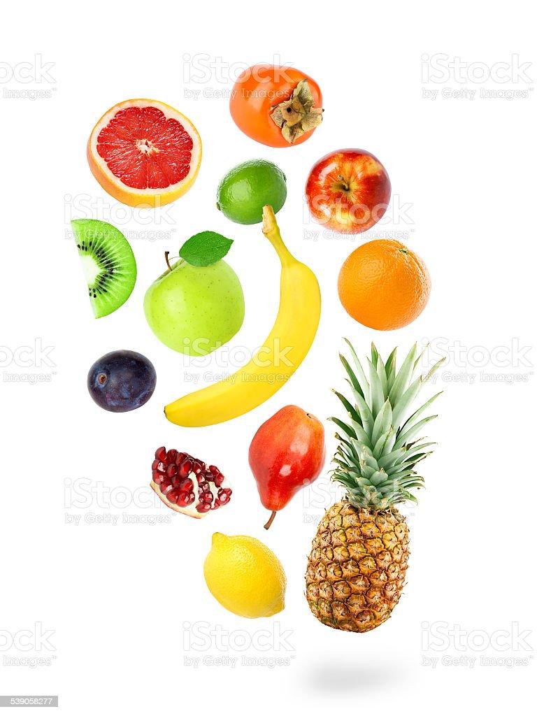 Frische Früchte fallen-Farbe – Foto