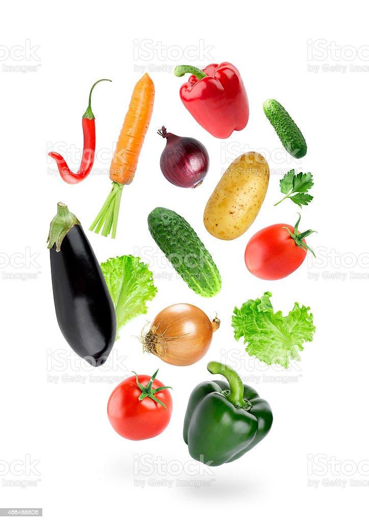 Frisches Gemüse fallen-Farbe – Foto