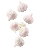 Garlic on white with soft shadow. Clipping path included.