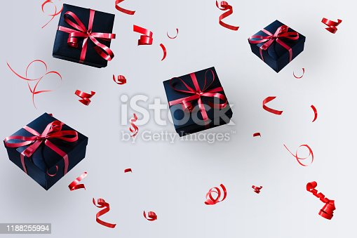 istock Falling gift box, Happy new year celebrate, 1188255994