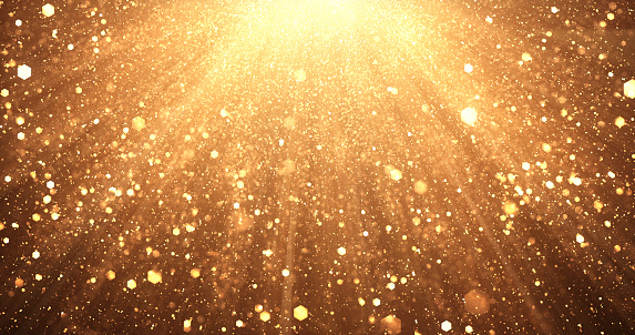 Digitally generated image of falling gold particles, perfectly usable for a wide variety of topics like Christmas, luxury, success, celebration, etc.