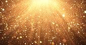 istock Falling Gold Glitter - Christmas, Celebration, Anniversary - Background 1277125124