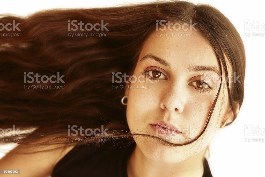 Falling hair royalty-free stock photo