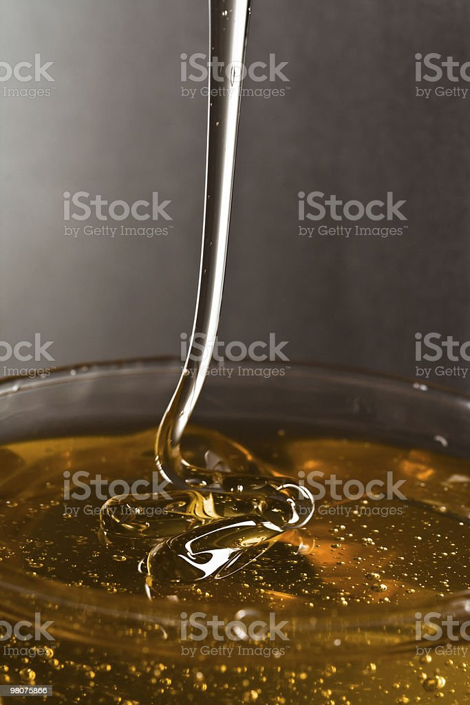 Falling honey royalty-free stock photo