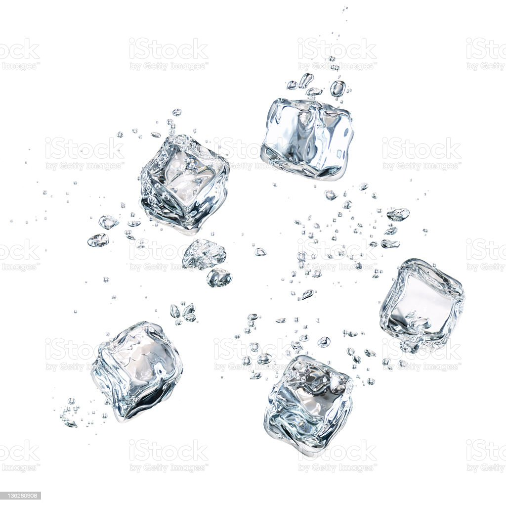Falling Ice Cubes royalty-free stock photo