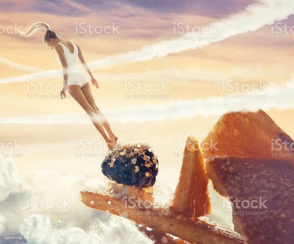 Falling in sweet royalty-free stock photo