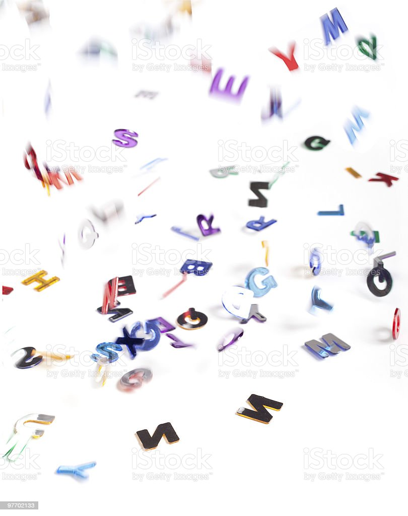 falling letters royalty-free stock photo