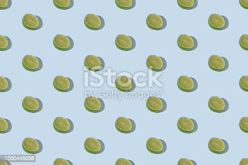 Falling lime seamless pattern background