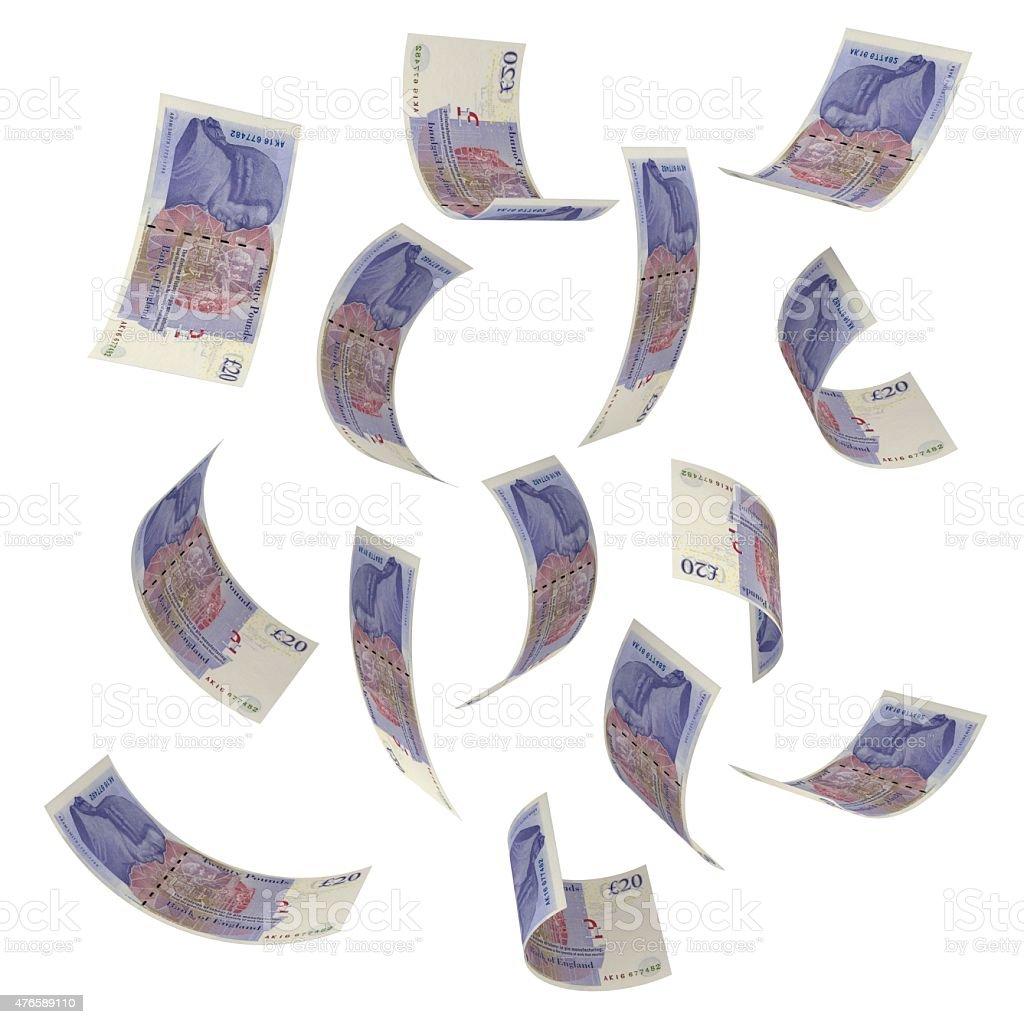 Sinkende Geld – Britisches Pfund – Foto