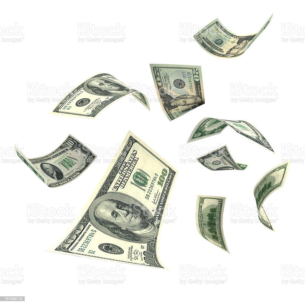 Falling Money (XXL) - Royaltyfri Amerikansk valuta Bildbanksbilder