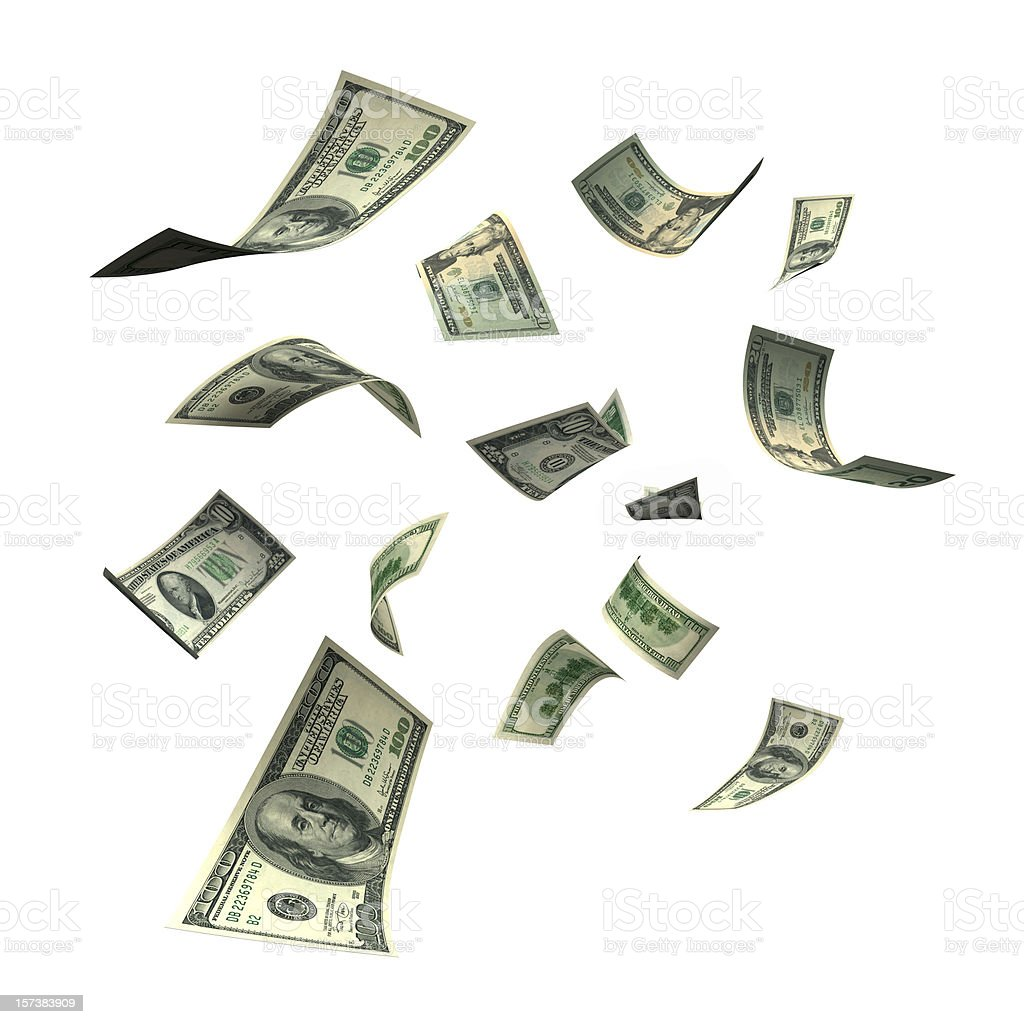 Falling Money (XXL) royalty-free stock photo