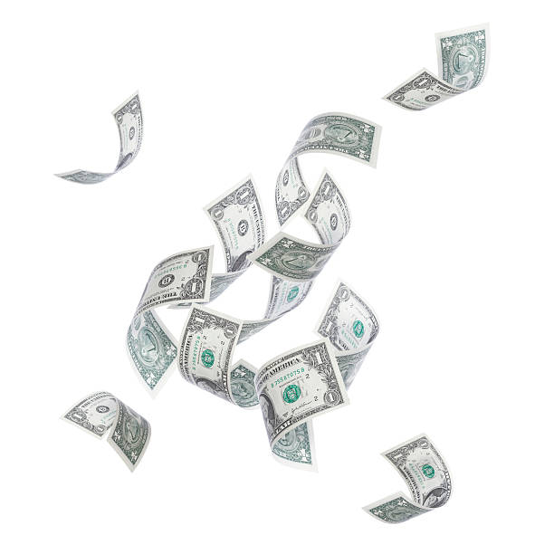 Falling Money stock photo
