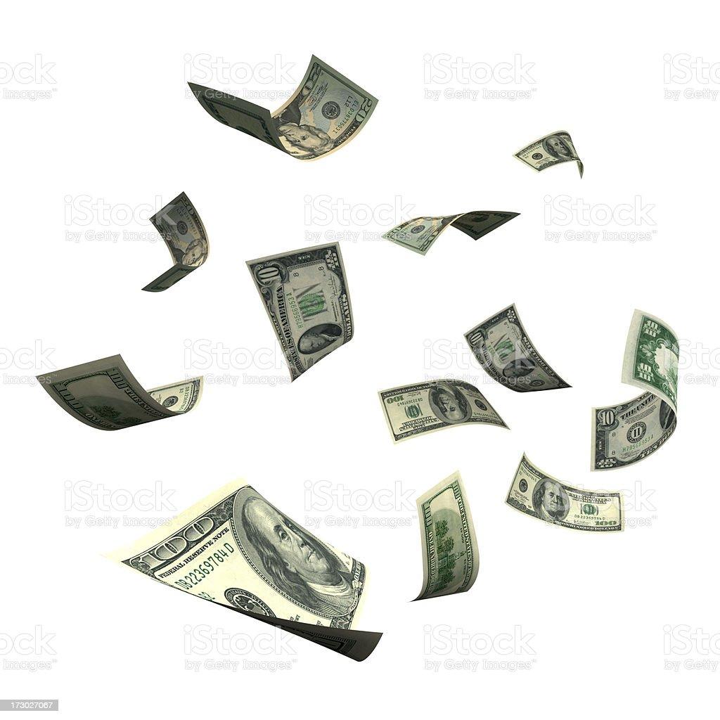 Falling Money (XXL) royalty-free stock photo
