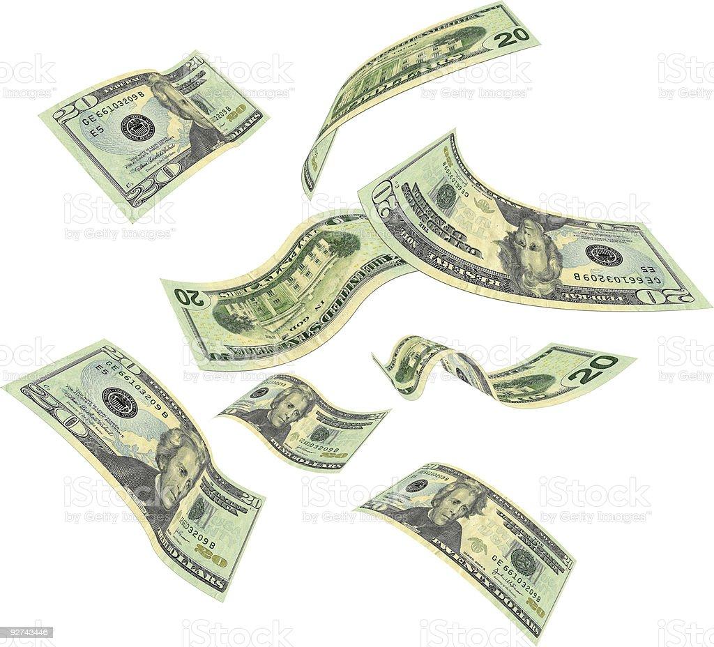 Falling money royalty-free stock photo