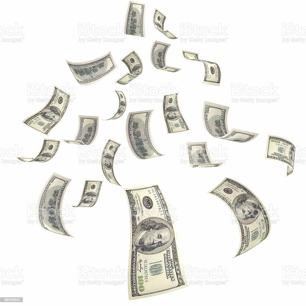 Falling Money stock photo