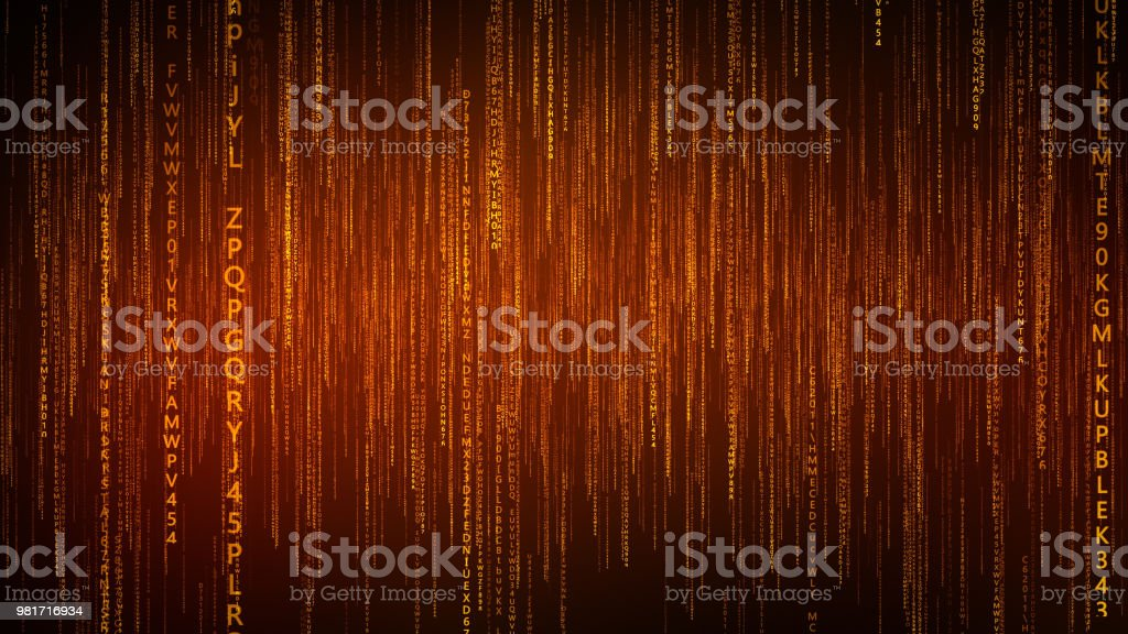 Falling Particles Trail Gold - foto stock