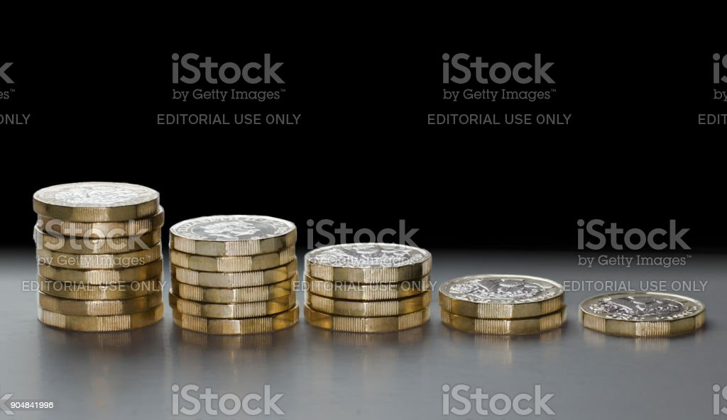 BREXIT falling pound histogram GBP falling in currency market stock photo
