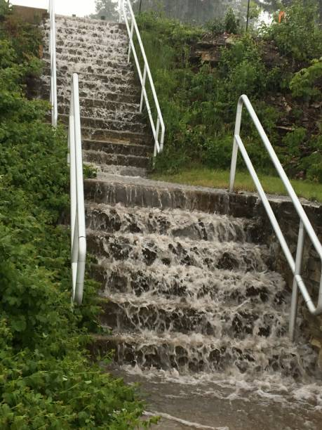 Falling Rain stock photo