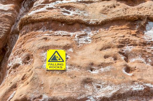 Falling rocks.