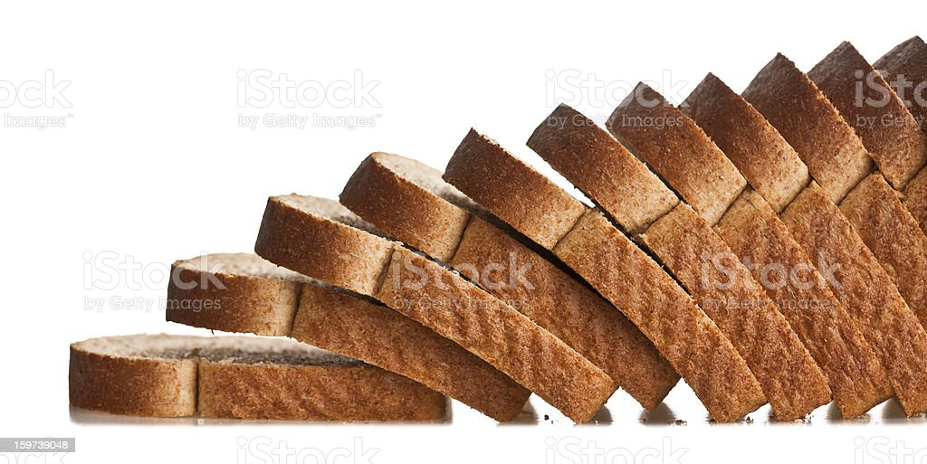 Falling sliced bread stock photo