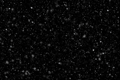 Image of falling snow. Use it over an picture in an image editor with the the layer set to 'screen' and snowing. Useful for designer.