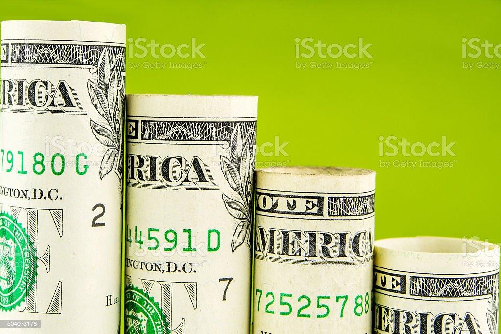 Tombe pas faite de l'un des billets en dollar américain - Photo