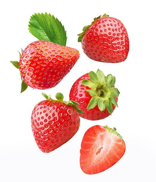Falling strawberries. foto