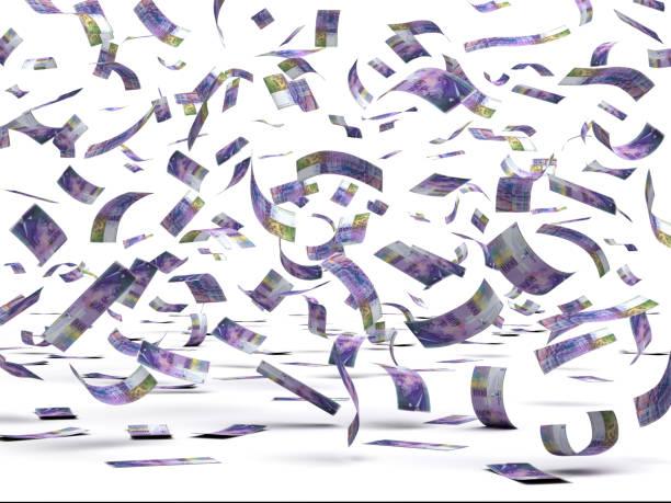 dalende zwitserse franc - franken stockfoto's en -beelden