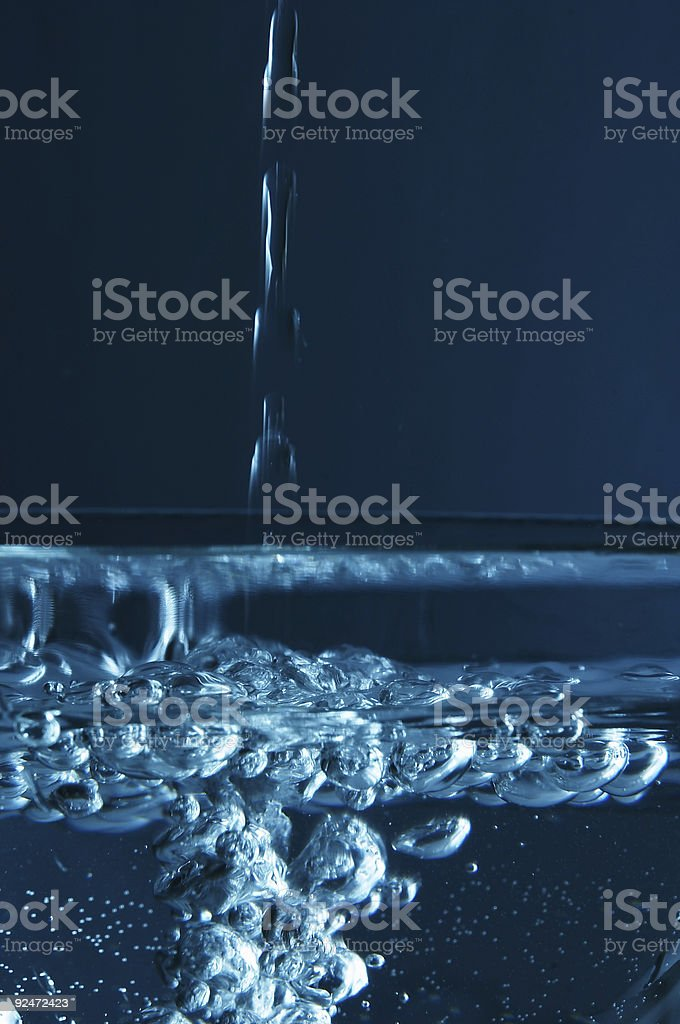 Falling water 1 royalty-free stock photo