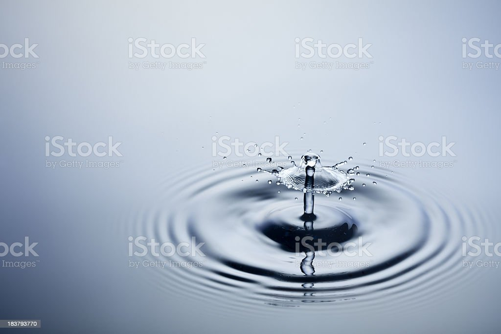 Falling Water Drops Ii Freeze Frame Motion Drop Splash Stock Photo ...
