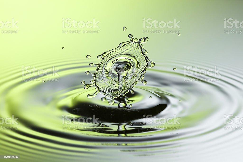 Falling water splash VIII - Freeze frame motion drop royalty-free stock photo